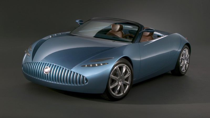 Buick Bengal, concept, Buick, classic cars, roadster, cabriolet, blue, front (horizontal)