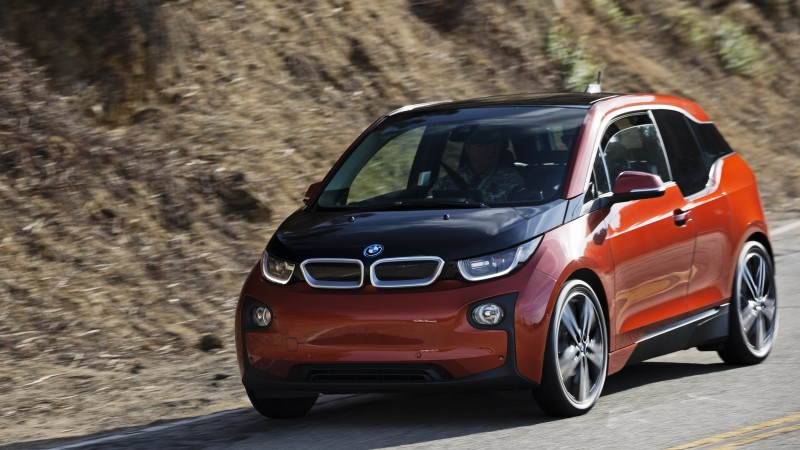 BMW i3, hybrid, REx, MCV, carbon, city car, BMW, Project I, road, red