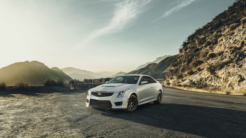 Cadillac ATS, luxury cars, Allante Touring Sedan, Cadillac, silver, front, mountain, 2015 Detroit Auto Show. NAIAS