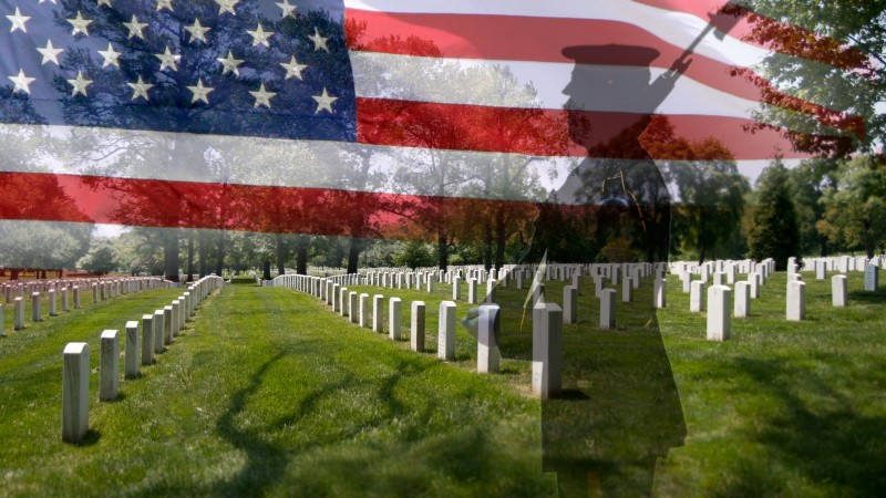 Memorial Day, USA, event, the memory of fallen American soldiers, flag (horizontal)