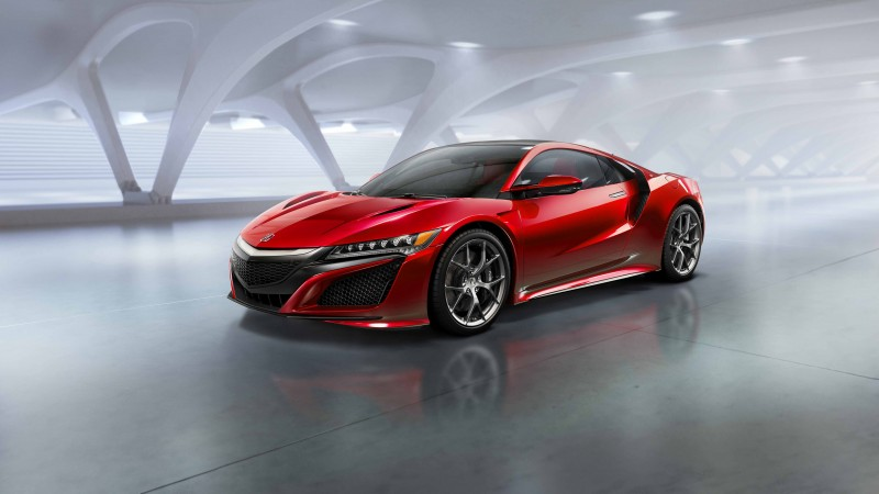 Acura NSX, supercar, Acura, electric cars, hybrid, sports car, 2015 car, Detroit, side, 2015 Detroit Auto Show, Best Electric Cars 2015, NAIAS (horizontal)