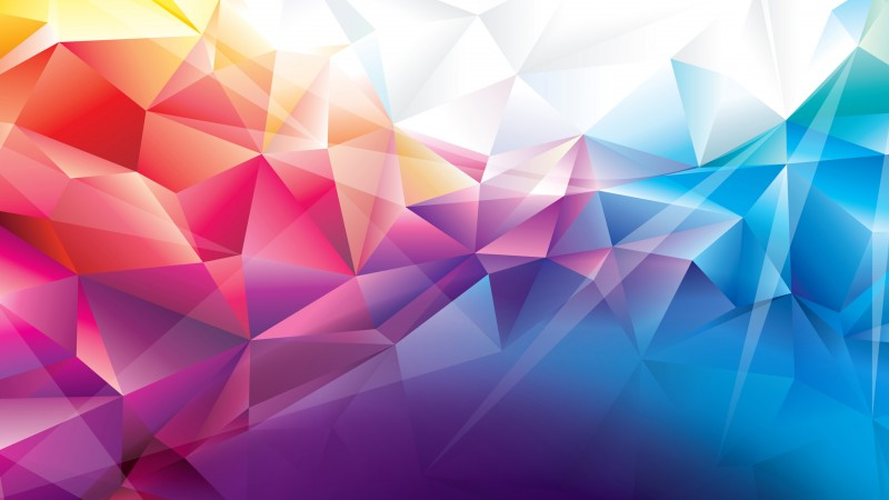 polygon, 4k, HD wallpaper, orange, red, blue, background, pattern (horizontal)