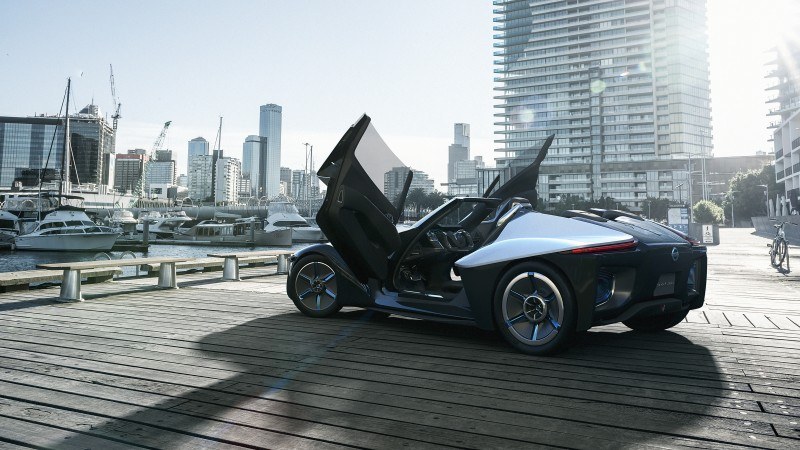 Nissan Bladeglider, electric cars, concept, Best Electric Cars 2015, Nissan, ecosafe, side, doors, review