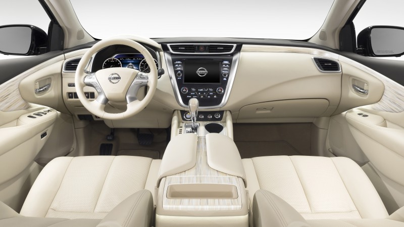 Nissan Murano, crossover, Nissan, interior, Gen 3, SUV, 2015 car, review, rent, buy, 2015 Detroit Auto Show. NAIAS