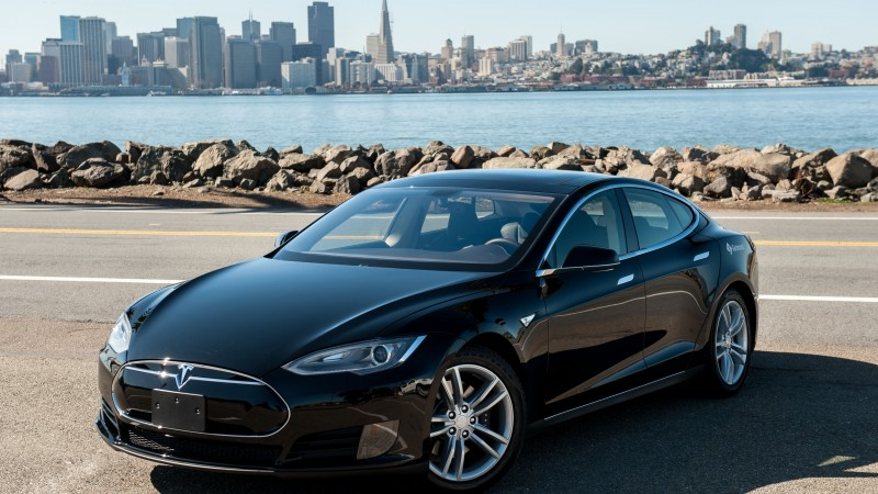 Tesla Model S, electric cars, Tesla Motors, speed, road, review, front, test drive (horizontal)