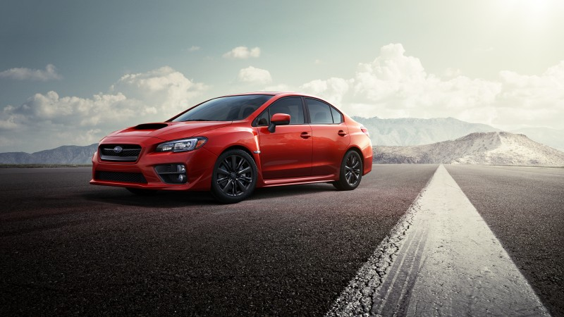 Subaru WRX STI, concept, Subaru, Impreza, sports car, speed, test drive, red (horizontal)
