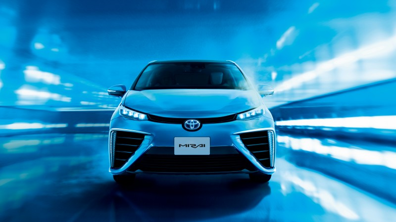 Toyota Mirai, hydrogen, Toyota, electric cars, Best Electric Cars 2015, front, ecosafe, concept, review, test drive, 2015 Detroit Auto Show. NAIAS (horizontal)