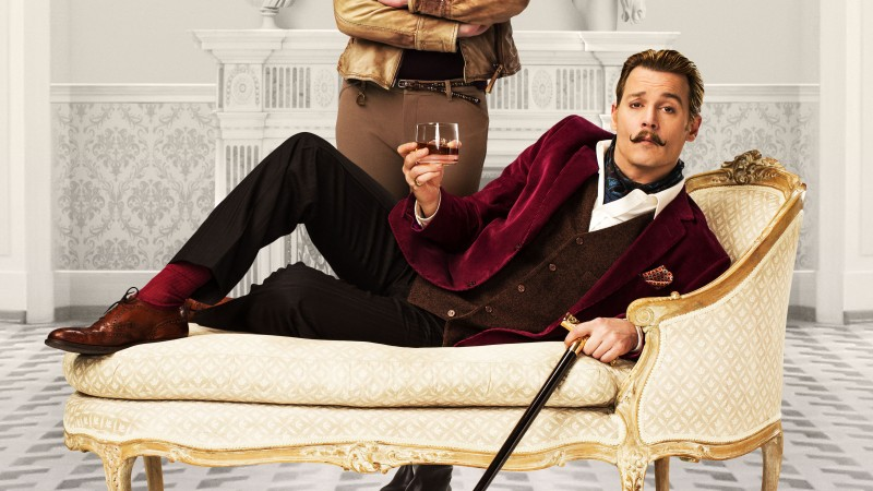 Mortdecai, 2015, film, movie, Johnny Depp, Charlie Mortdecai, Gwyneth Paltrow, Johanna Mortdecai (horizontal)