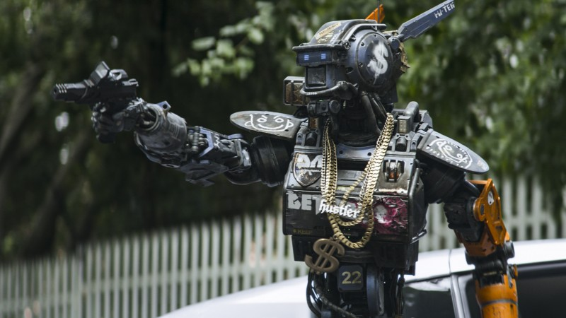 Chappie, Best Movies of 2015, robot, gun