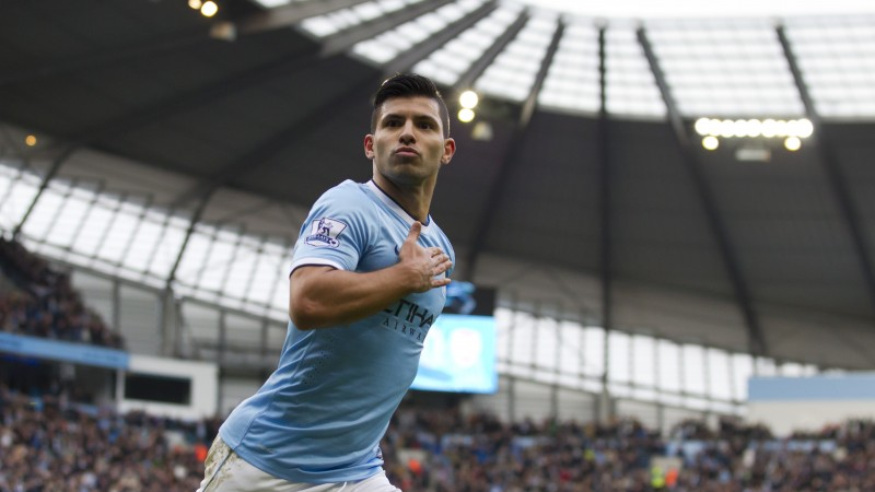 "Football, Sergio Aguero, soccer, The best players 2015, FIFA, Manchester City, Striker, Sergio Leonel ""Kun"" Agüero Del Castillo (horizontal)"