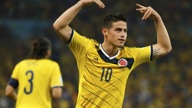 Football, James Rodríguez, The best players 2015, FIFA World Cup, Real Madrid, footballer, James David Rodríguez Rubio (horizontal)