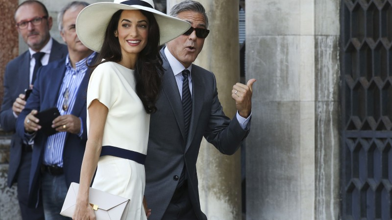 Amal Alamuddin, George Clooney, Most Popular Celebs in 2015, wedding, lawyer, actor (horizontal)