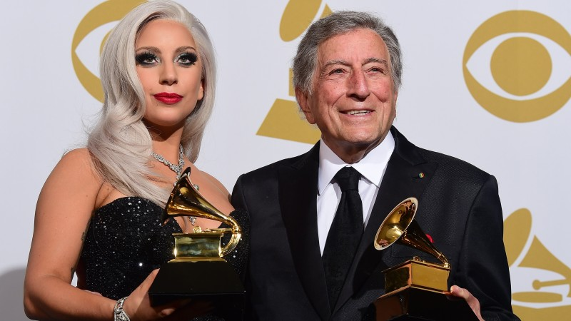 Lady Gaga, Most Popular Celebs in 2015, Grammys 2015 Best Celebrity, Tony Bennett, Best Traditional Pop Vocal Album, Cheek to Cheek (horizontal)