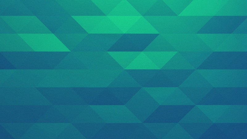 polygon, triangles, green