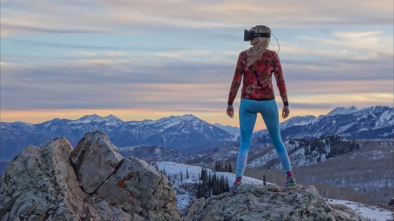 Oculus Rift, VR headset, review, virtual reality, girl, Rift, mountain, nature