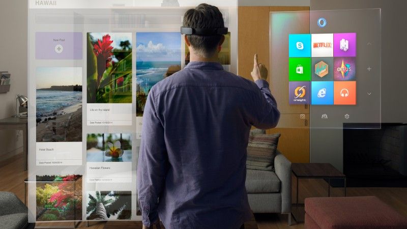 Microsoft HoloLens, Hi-Tech News of 2015, A.R. headset, Windows 10, augmented reality, virtual reality, desktop, review, Real Futuristic Gadgets