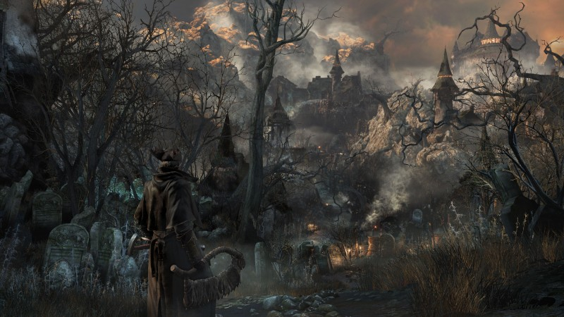 Bloodborne, gameplay, review, screenshot, interface, game, Yharnam, Best Games of 2015, city, darkness, fog