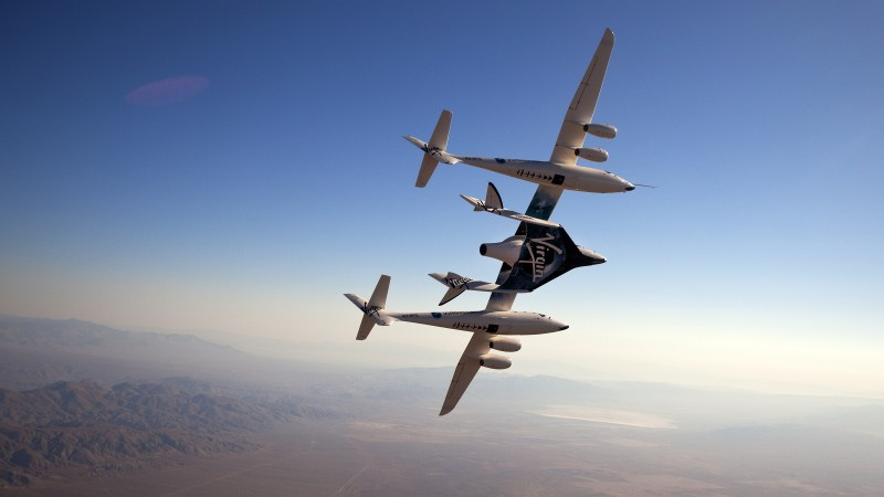 SpaceShipTwo, space tourism, Virgin Galactic, sky, spaceship, VSS Voyager, Model 339 (horizontal)