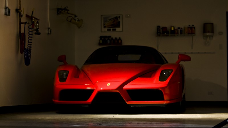Enzo Ferrari, supercar, luxury cars, sports car, test drive, review, front, red, buy, rent (horizontal)