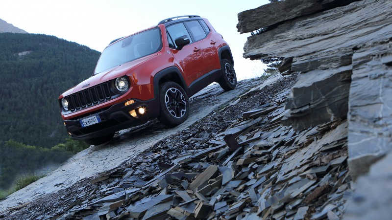 Jeep Renegade, crossover, SUV, 2015 cars, Detroit, review, test drive, front