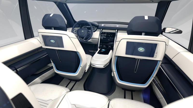 Land Rover Discovery Vision, 2015 cars, luxury cars, crossover, test drive, review, concept, interior (horizontal)