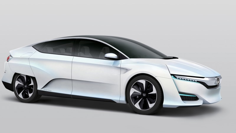 Honda FCv, hydrogen, Clarity, electric cars, sports car, test drive, review, concept, side