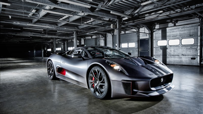 Jaguar C-X75, electric car, hybrid, supercar, sports car, review, test drive, speed, side