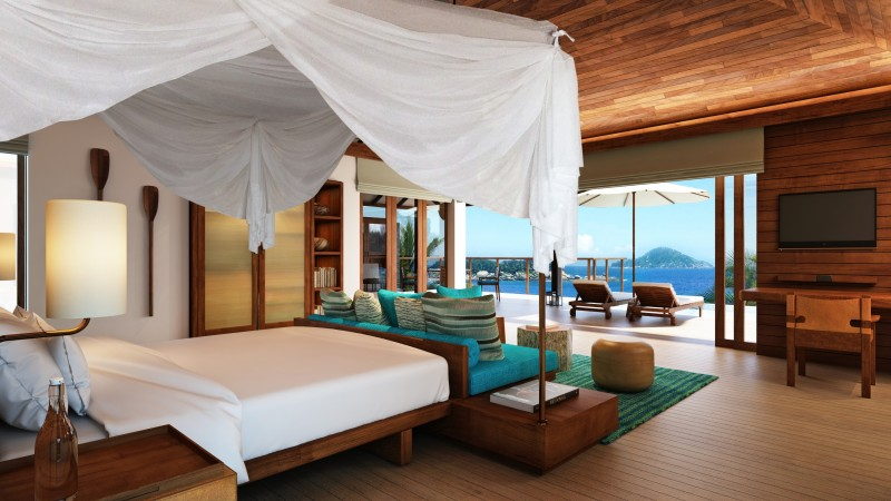 Maldives Water Villa, Best Hotels of 2015, tourism, travel, resort, vacation, Lux, bed, blue, booking