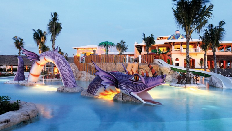 Barcelo Maya Palace Deluxe, Yucatan, Best Hotels of 2017, Best beaches of 2017, tourism, travel, resort, vacation, pool, dragon