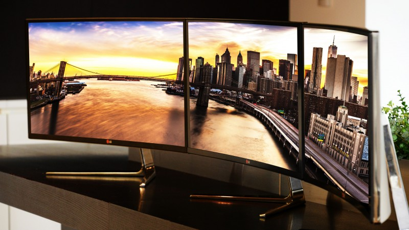 LG UltraWide, CES 2015, QHD IPS, monitor, curves, Hi-Tech News 2015, review, workstation