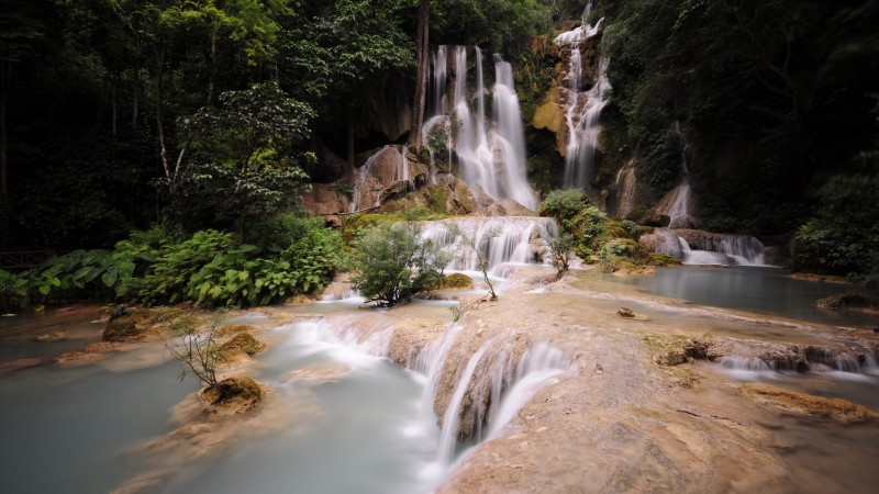 Dalat Waterfall, falls, Pongour, waterfall, Vietnam, mountain, river