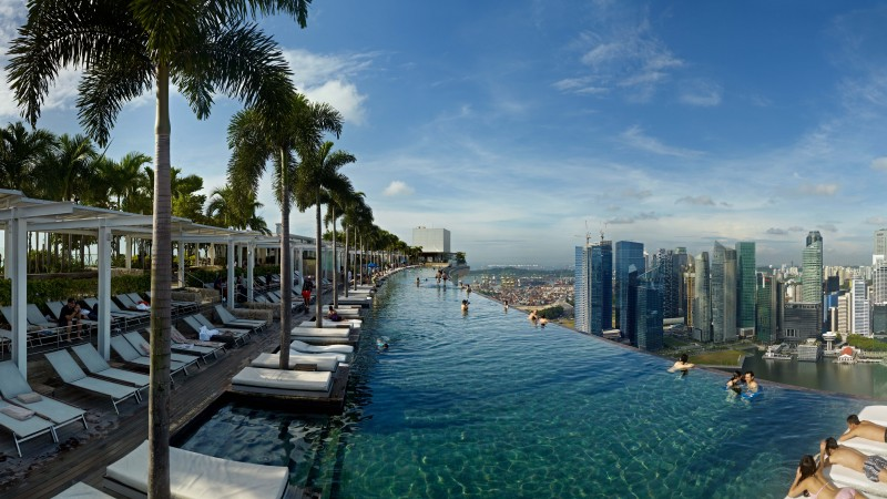 Marina Bay Sands, infinity pool, pool, hotel, travel, booking, casino, Singapore (horizontal)