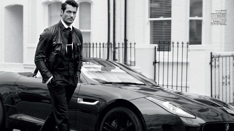 David Gandy, Top Fashion Models 2015, model, London, UK, car, street (horizontal)