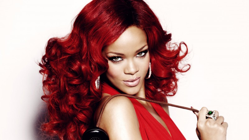 Rihanna, Most Popular Celebs in 2015, singer, music, actress, red hair, look