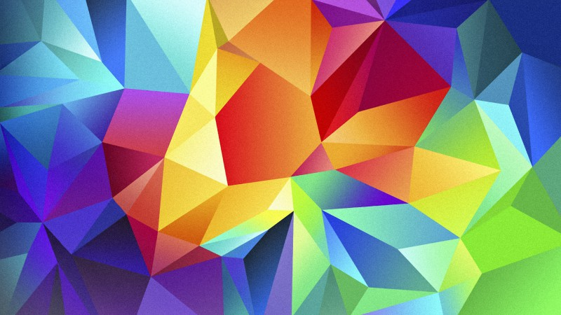 polygon, 4k, HD wallpaper, android, triangle, background, orange, red, blue, pattern (horizontal)