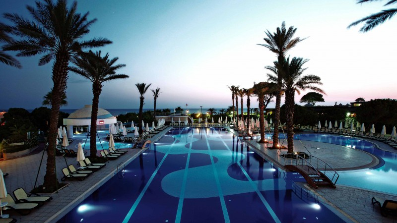 Limak Atlantis De Luxe Hotel, The best hotel pools 2017, tourism, travel, resort, vacation, pool, palms, sunbed