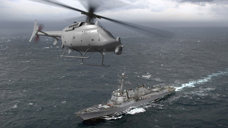 DDG-106, MQ-8C Fire Scout, helicopter, drone, US Army, U.S. Air Force (horizontal)