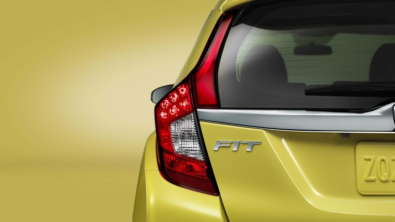 Honda Fit Hybrid, Best Cars 2015, Honda Jazz, city cars, yellow, back, test drive