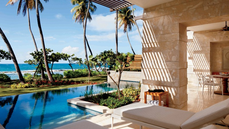 Ritz-Carlton Reserve, Dorado, Puerto Rico, The best hotel pools 2017, tourism, travel, resort, vacation, pool, palms, sunbed