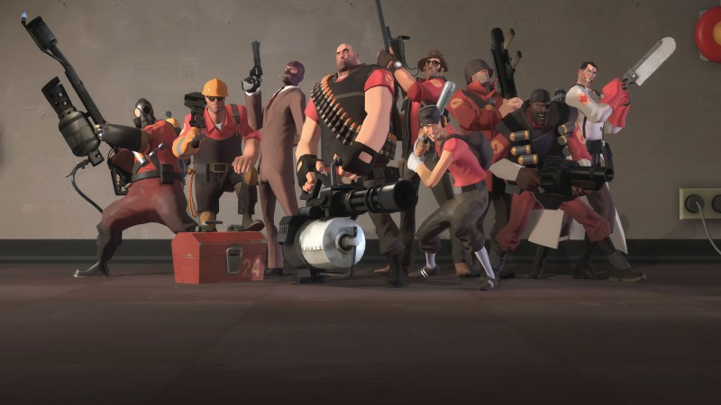 Team Fortress 2, TF2, FPS, all characters, screnshot, 4k, 6k, 8k, Ultra HD, review, PC (horizontal)