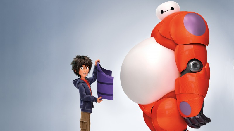 Big Hero 6, cartoon, Baymax, Hiro Hamada, superhero, review, 3D, watch, HD, Best Animation Movies of 2015 (horizontal)