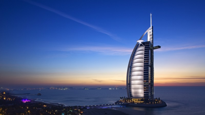 Burj Al Arab Hotel, Dubai, Uae, travel, booking, pool (horizontal)