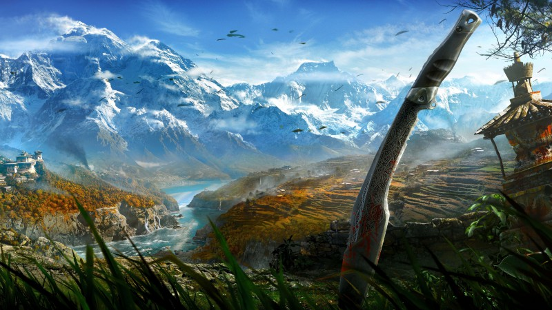 Far Cry 4, game, open world, Adventure games, shooter, Kyrat, Himalayas, Tibet, lake, screenshot, review, 4k, 5k (horizontal)