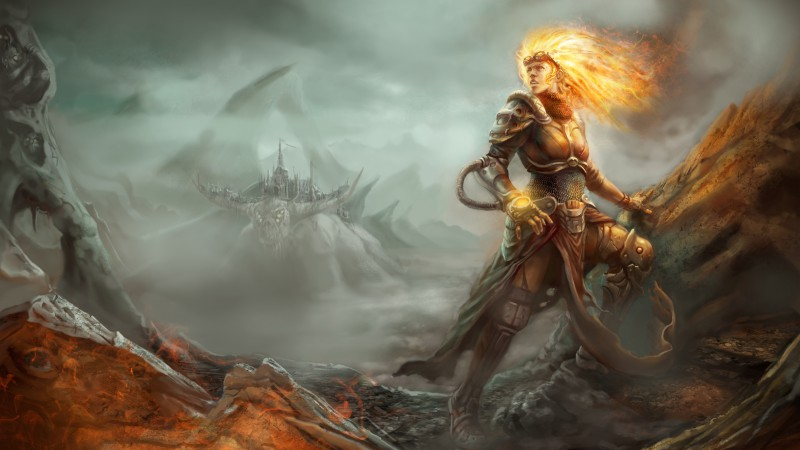 Magic the Gathering, Chandra Nalaar, RPG, strategy, author artwork