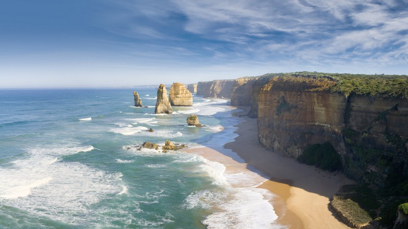 Melbourne, 4k, HD wallpaper, Australia, Best Beaches in the World, Great Ocean Road, sea, ocean, World's best diving sites (horizontal)