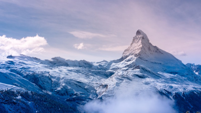 Zermatt, Valais, Switzerland, travel, tourism, resort, mountain, snow, clouds, sky