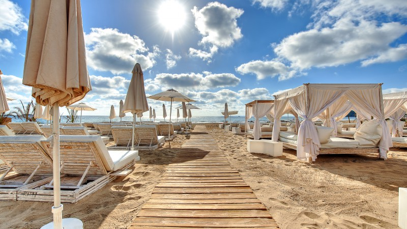 Ushuaia Beach Hotel, Ibiza, Best Beaches in the World, tourism, travel, resort, vacation, beach, sand (horizontal)