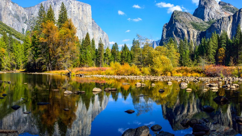 Yosemite, 5k wallpapers, El Capitan, forest, OSX, apple, mountains, lake
