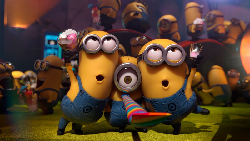 Minions, cartoon, Best Animation Movies of 2015, yellow, funny
