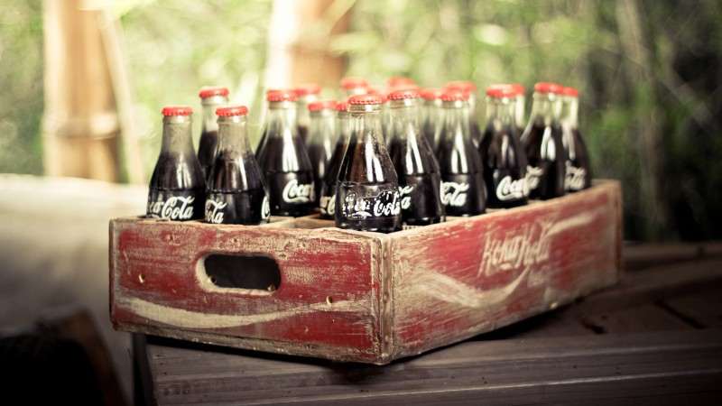 Coca-Cola, drink, soda, box, vintage, retro (horizontal)